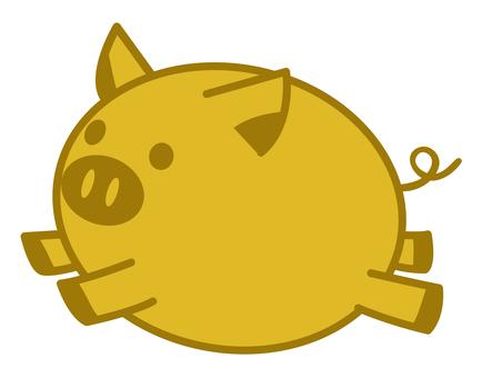 金豚のイラスト