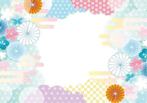 Japanese pattern frame 2