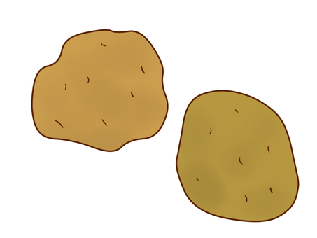 With potato skin