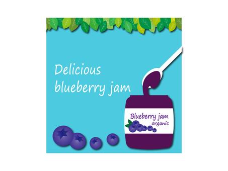 Illustration of blueberry jam