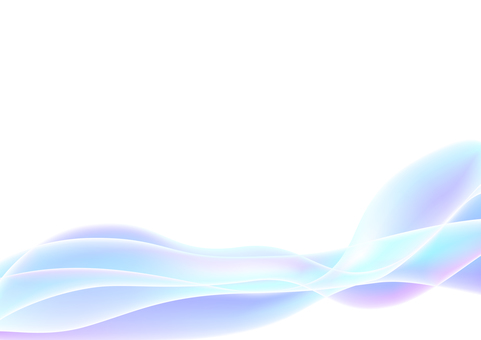Blue abstract wavy lines background material