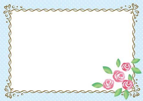 Girly Material 012 rose frame