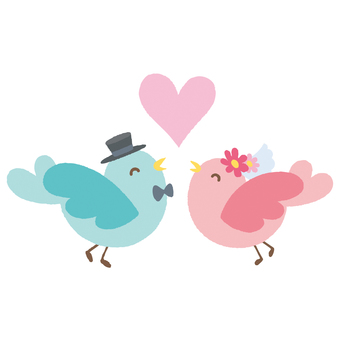 결혼식 작은 새 2