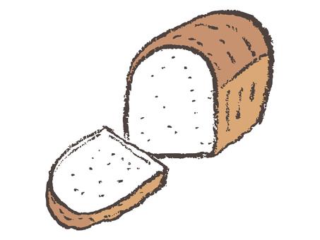Mountain-shaped bread