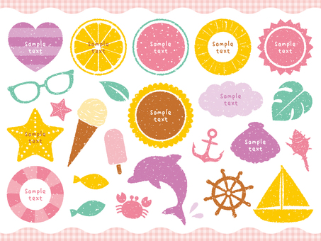 Stamp Summer Decoration Set 02