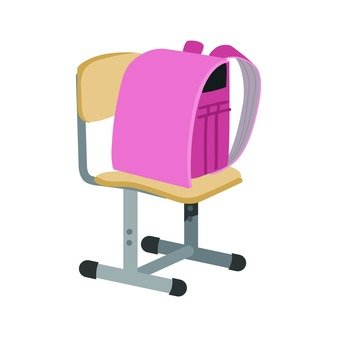 School bag and chair