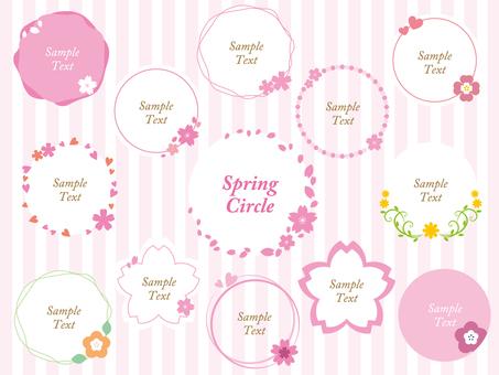 Spring Circle Set 02