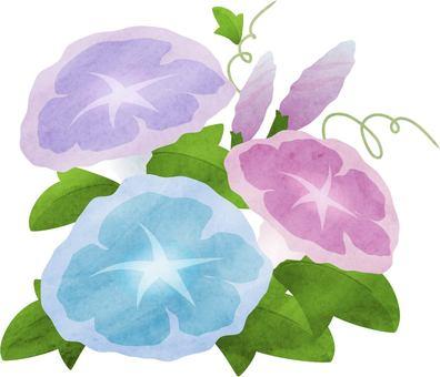 Asagao watercolor style
