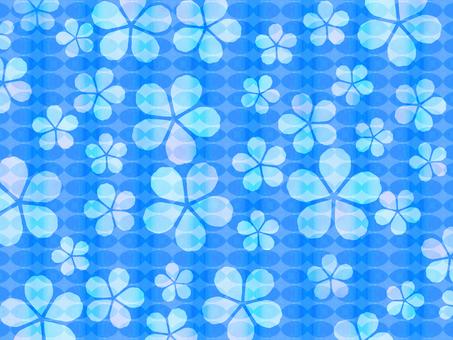Flower Pattern Material Blue Summer Background Wallpaper