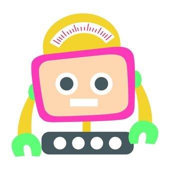 Pink monitor type robot