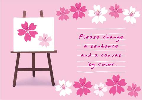 Easel message card Sakura no Hana