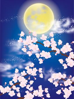벚꽃과 달 2
