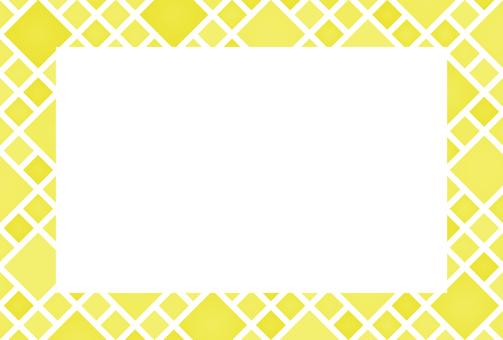 Diamond-shaped yellow photo frame