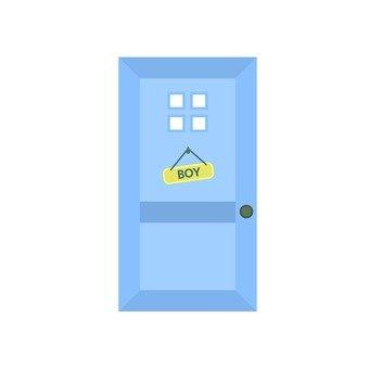 Boys room door