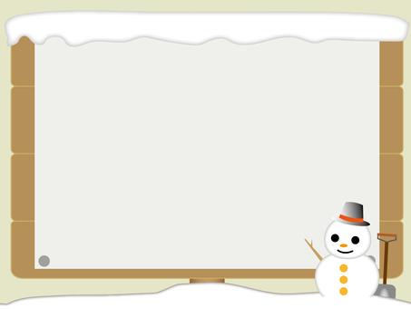 Bulletin board in the snow