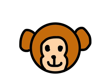 Icon animal monkey