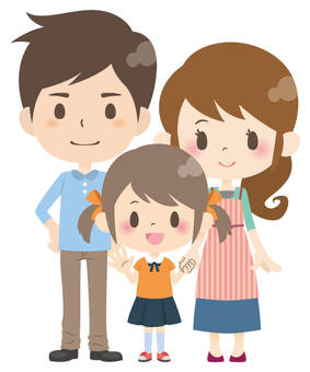 3 people family * normal pose