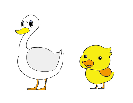 Duck parent and child