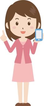 Female | University student | private clothes | smartphone