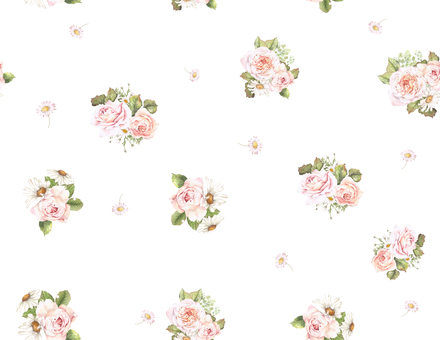 Background 8 a continuous pattern of rose and dizzy
