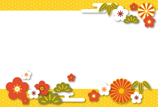 【Ai, png, jpeg】 Year-shaped material 90