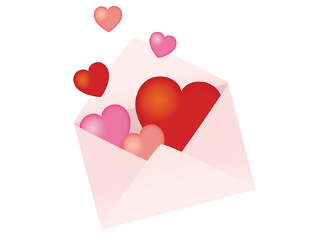 An envelope with a heart