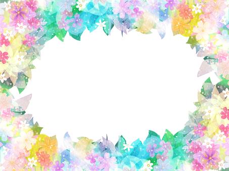 水彩草花のリースフレーム
