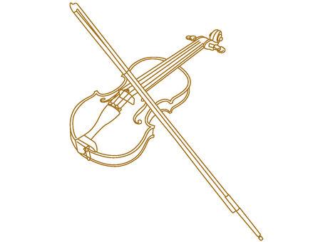 Violin drawing