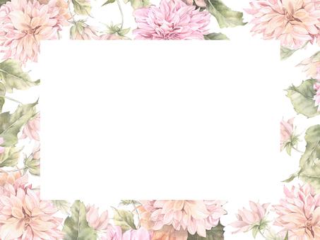Dahlia's cut out flower frame - frame