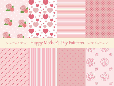 Mother's Day background material set