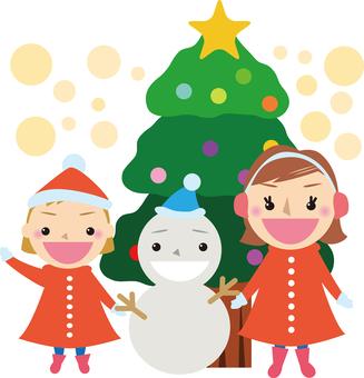 Christmas friends [Snowman and parents]