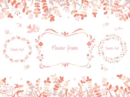Hand drawn plant frame set