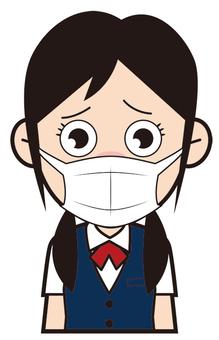 Female student (mask)