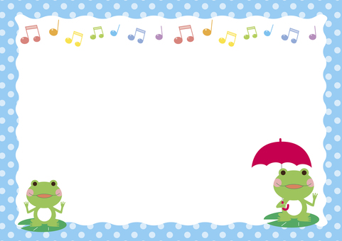 Frog frame with umbrella