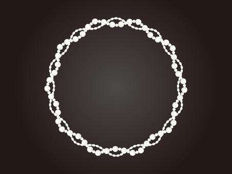 Elegant pearl frame 2