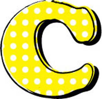 Dotted alphabet C
