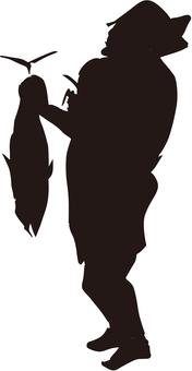 Ukiyo-e silhouette 183