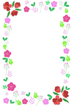 Floral pattern frame (transparent background)