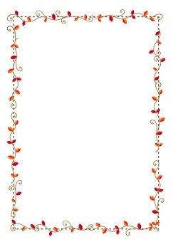 Red ivy frame