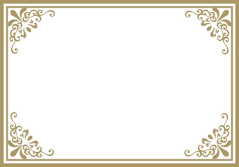 Decoration frame gold rectangle