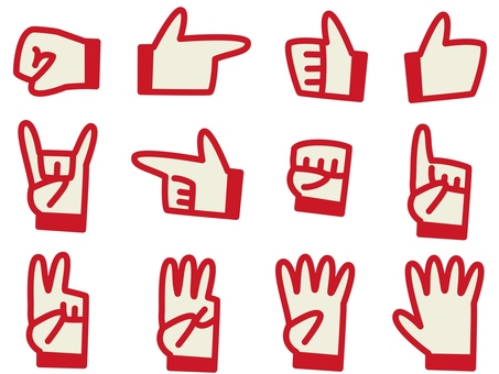 Hand icon red