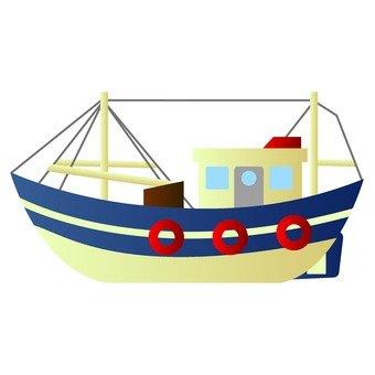 Blue ship model