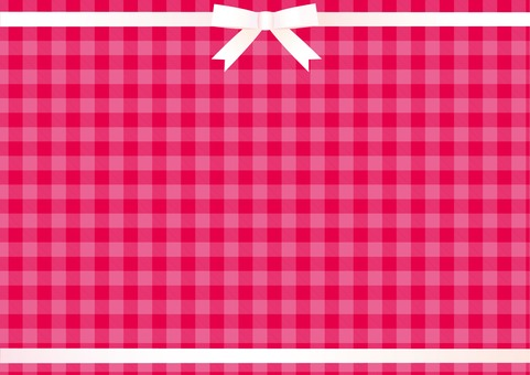 Pink gingham (white ribbon up and down frame)