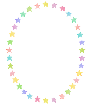 Water color star circle frame 4