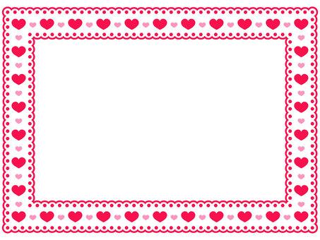 Heart pattern lace frame 1