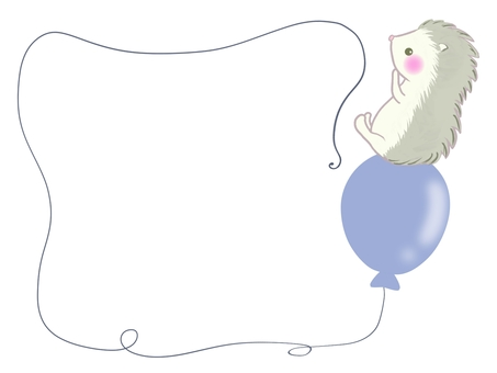 Hedgehog and balloon frame