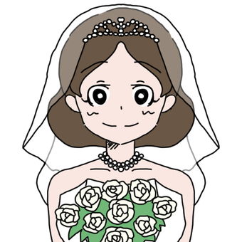 Wedding dress 1+ bouquet