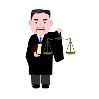 Male judge with balance