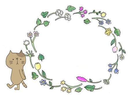 Cat flower frame 2