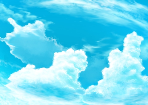 Sky, clouds and blue